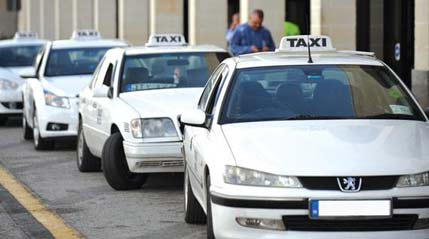 taxi blanc malte