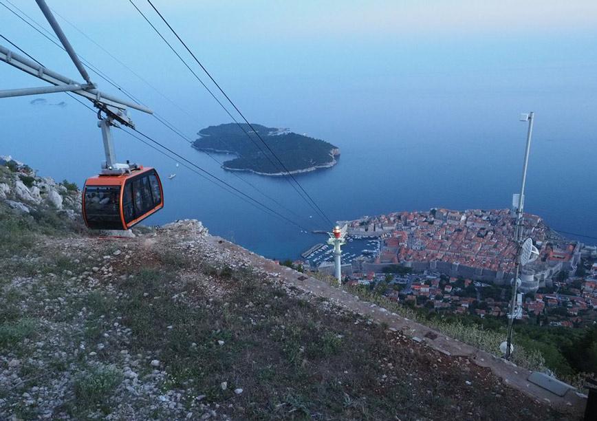le mont Srđ Dubrovnik